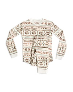 PJ Salvage - Girls' Fair Isle Snowflake-Print Pajama Shirt & Pants Set - Little Kid, Big Kid